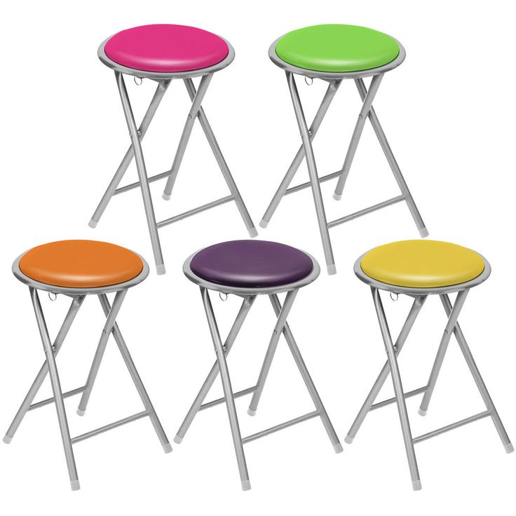 Clearance Round Folding Kitchen Breakfast Bar Stool Chair