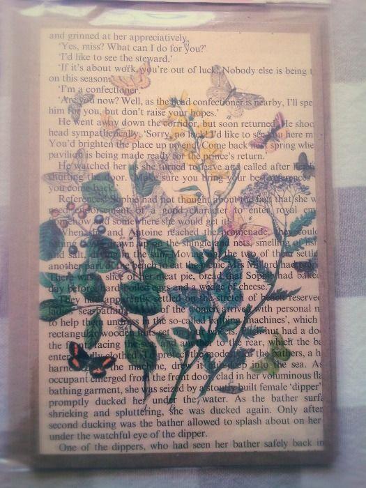Botanical Butterflies Book Print Gift Card