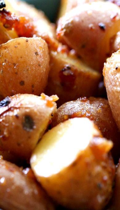Honey Dijon Roasted Red Potatoes: Red Potatoes, Honey Roasted, Roasted ...