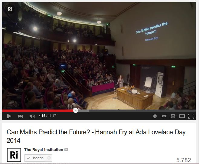 Quattro divertenti lezioni di matematica / Is the Golden Ratio a Myth? , Can Maths Predict the Future? , The Mathematics of love, Why should you learn about algebra?