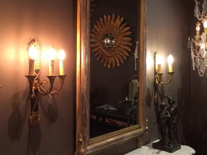 Kroonluchter vergelijk met led lamp C35 amberkleur en helder 4 Watt