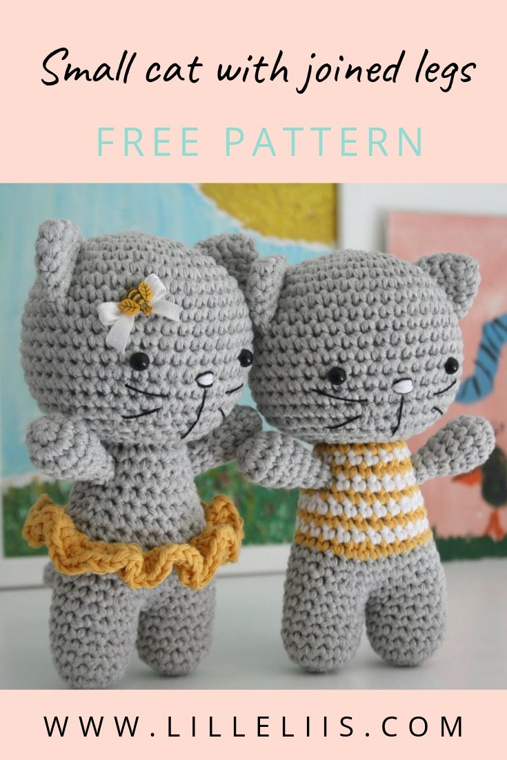 Cats Crochet Amigurumi Pattern Free | Crochet cat pattern, Crochet ... | 1102x735