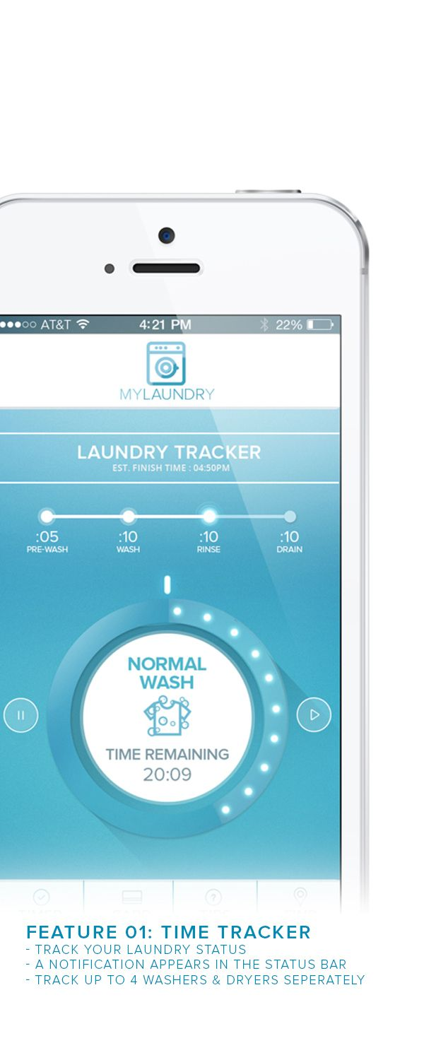LAUNDRY IOS APP + WASHER TOUCH SCREEN UI on App Design Served