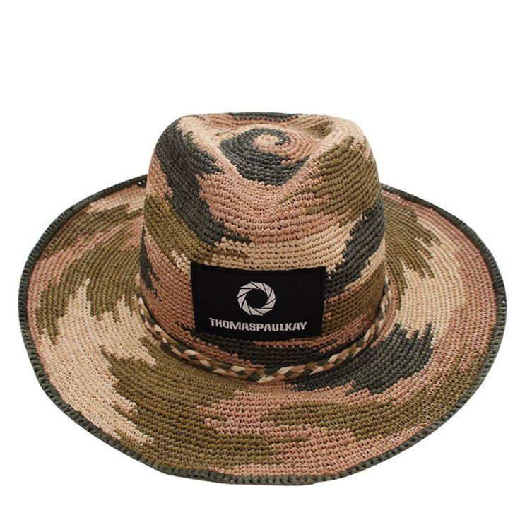 Thomaspaulkay Hat Camo Black Patch FedoraKhaki #Thomaspaulkay #Fedora