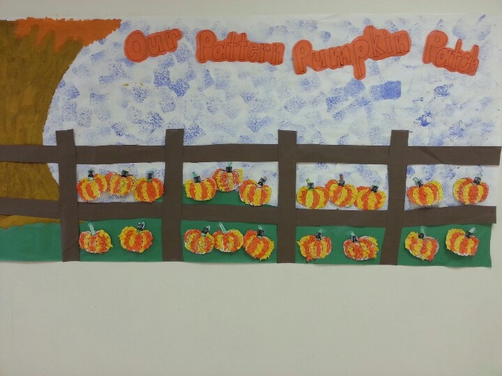 Classroom Decoration Elementary ~ Pattern pumpkin patch bulletin board school stuff