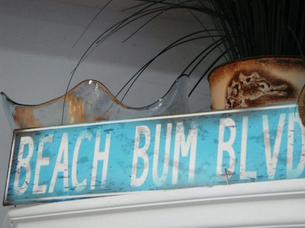 Beach Bum Blvd Street Sign