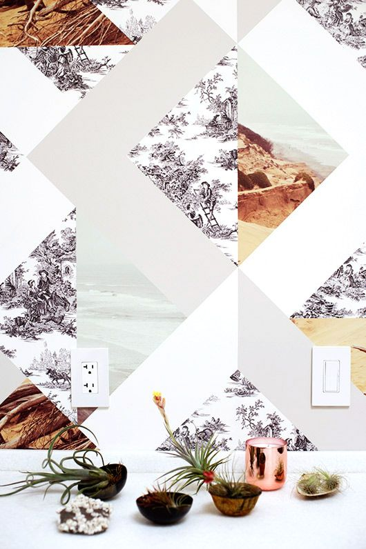 DIY: A super cool DIY wallpaper. Inspiring!