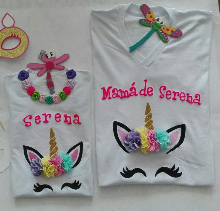 Camisetas personalizadas pintado a mano unicornios