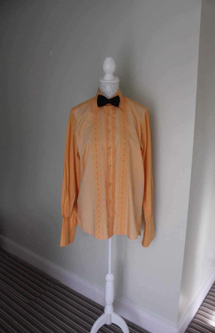70's tuxedo shirt, evening shirt, vintage prom shirt, tux shirt, dress shirt, 1970's disco shirt, men's shirt, fancy shirt by GoingAroundAgain on Etsy