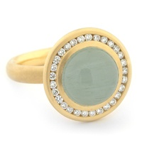 Anne Sportun - Aquamarine Cabachon Ring in 18kt gold never looked so good!