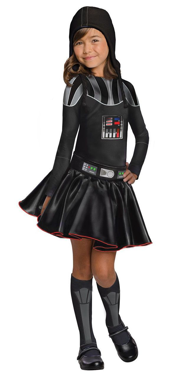 Girls Darth Vader Star Wars Costume - Love this for Halloween and the Movie premiere..so cute!