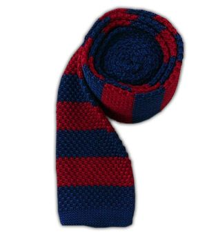 Knit Repp Stripe - Navy/Red | Ties, Bow Ties, and Pocket Squares | The Tie Bar