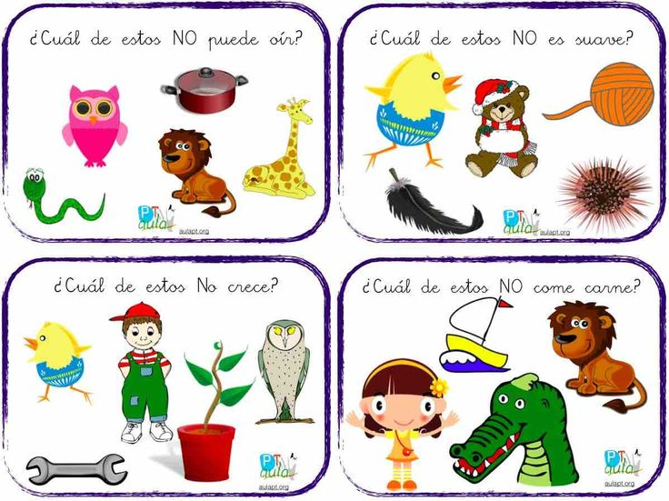 COMPRENDER FRASES NEGATIVAS. 8 cartas para trabajar la comprensión de frases en negativo.