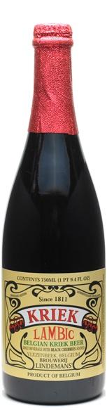 lindeman's kriek. champagne, cherry, beer baby.