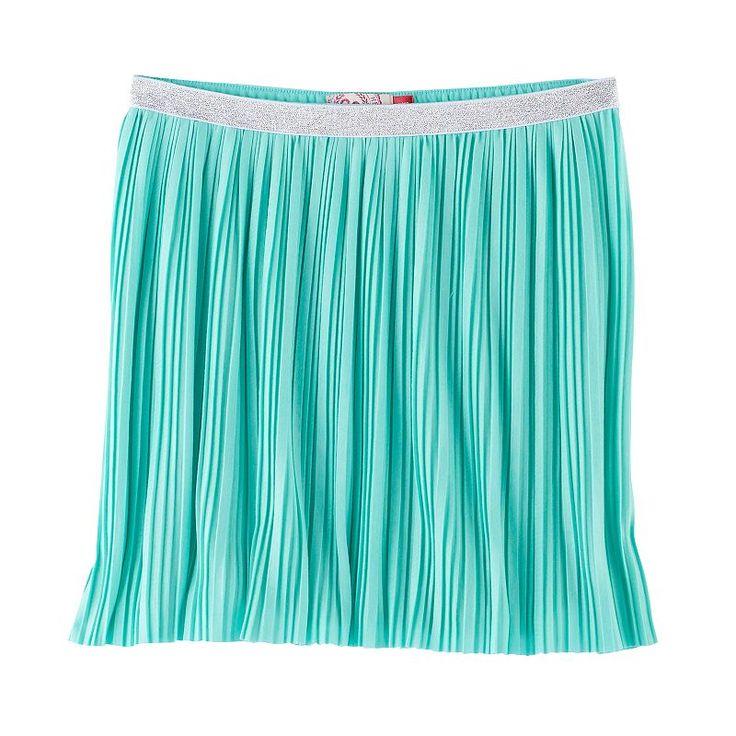 Girls 7-16 SO® Metallic Micro Pleated Skirt, Size: Xxl/16, Turquoise/Blue (Turq/Aqua)
