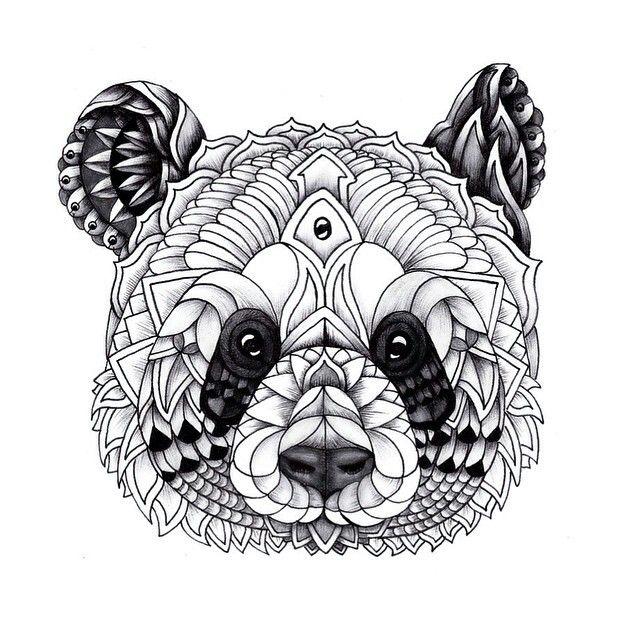 ber 1000 Ideen Zu Panda Tattoos Auf Pinterest Panda