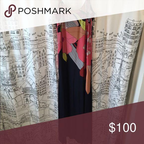 Trina Turk silk maxi dress Stunning black silk with multi color floral pattern Trina Turk Dresses Maxi