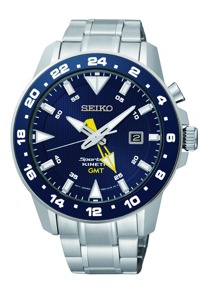 Seiko Men's Sportura Kinetic GMT Watch SUN017P1 -- Sportura Watches -- Express Watches