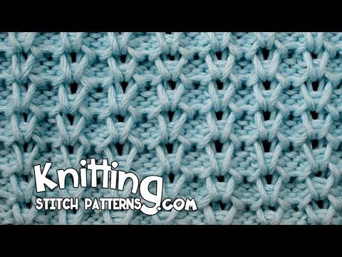 How to knit the Vertical Honeycomb stitch. Follow along and see how easy it is to knit. ++ Detailed written instructions: http://www.knittingstitchpatterns.c...