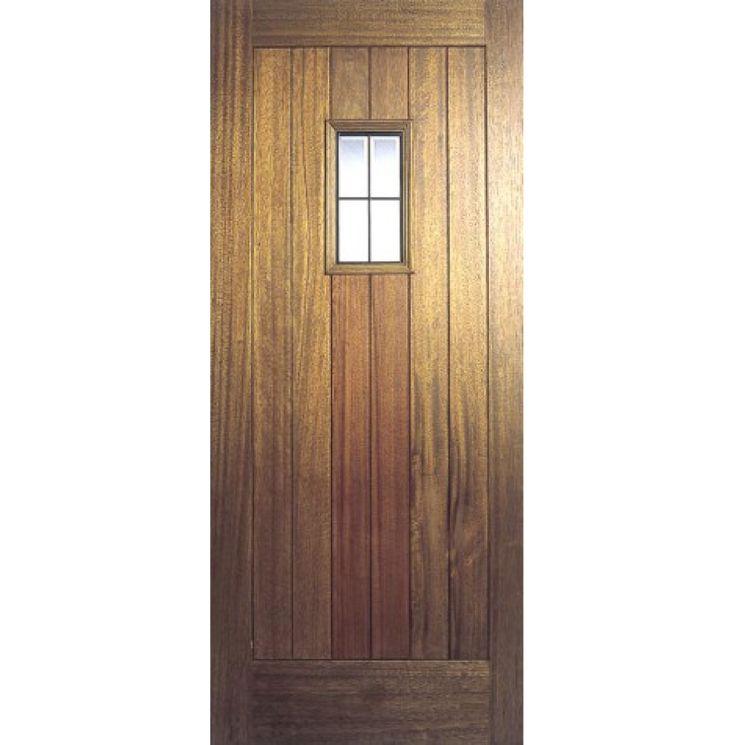 Hillingdon Lead Light External Door