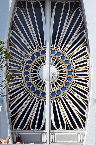 Door of house at Franz-Keim-Gasse 6, Brunn am Gebirge, AustriaGorgeous Doorway, Doors Close, Beautiful Doors, Architecture, Gates, Amazing Doors, Peacocks Feathers, Brunn, Austria