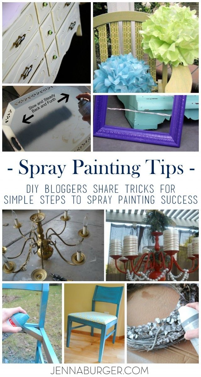 spray painting tips from the pros diy bloggers share. Black Bedroom Furniture Sets. Home Design Ideas