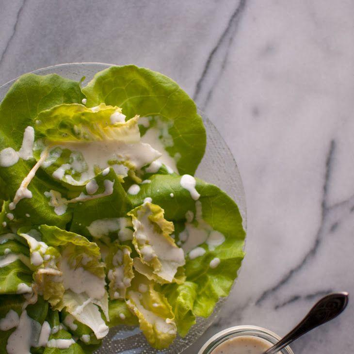 Creamy Lemon Salad Dressing Recipe Salads with whipping cream, dijon mustard, sugar, salt, ground pepper, white wine vinegar, lemon, lemon