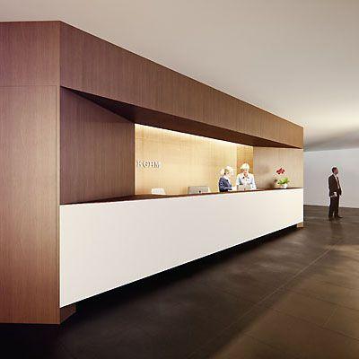 reception desk - kghm project