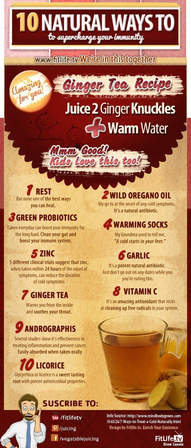 10 Natural Ways to supercharge your immune system.