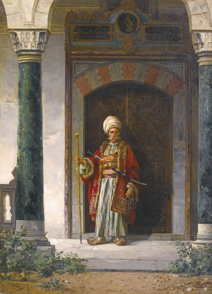 chlebowski stanislaw the palace gua | figures | sotheby's ...