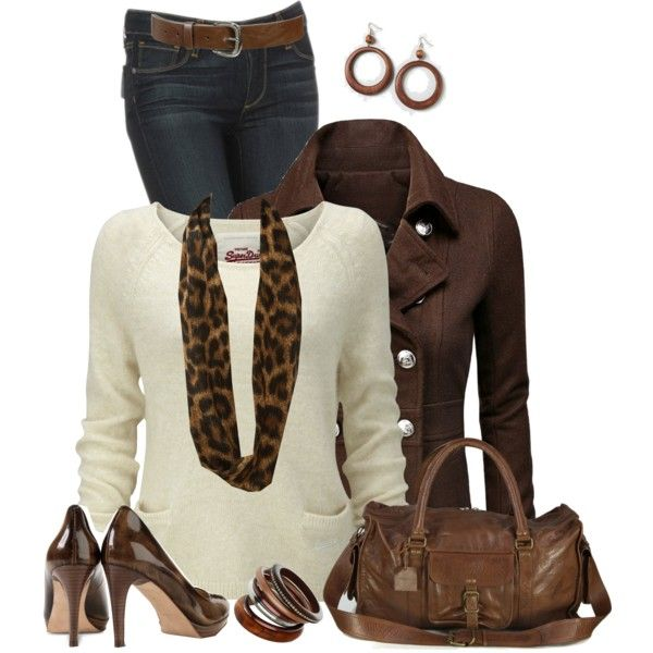 Brown Duffle Bag, created by daiscat on Polyvore