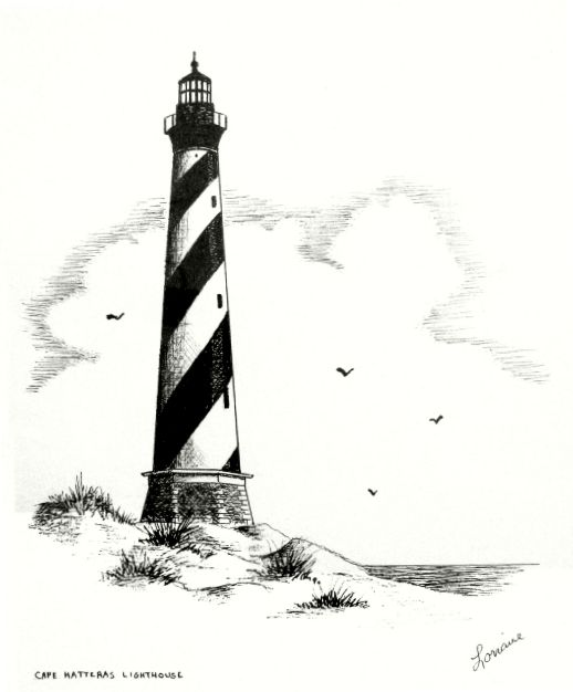 1000+ images about Lighthouses on Pinterest   Edward ...   Cape Fear Lighthouse Line Drawing