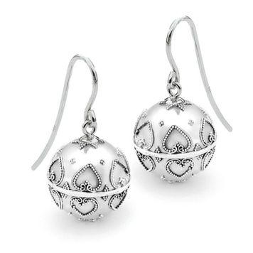 Harmony Ball Earrings - HEARTS - Sterling Silver