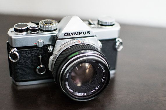Olympus Vintage Film Camera by CheerfulCollections on Etsy