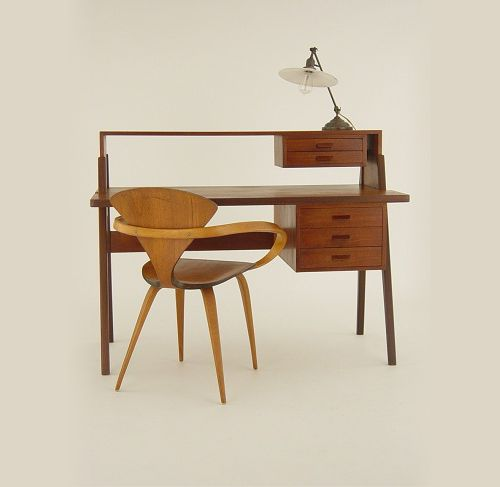 MCM desk with chair