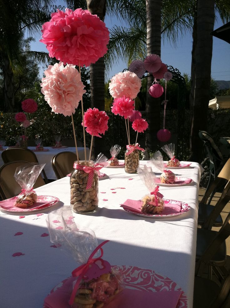 Outside Baby Shower Idea Pink Ideas Outside Baby Shower Baby Shower Ideas  Baby Shower Images Baby Shower Pictures Baby Shower Photos Pom Pom