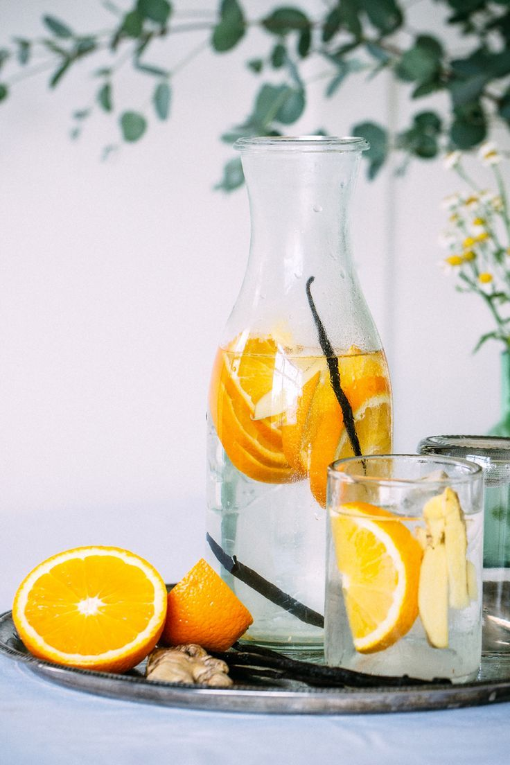 Orange Vanilla Bean Flavored Water. Image via: theartfuldesperado.com