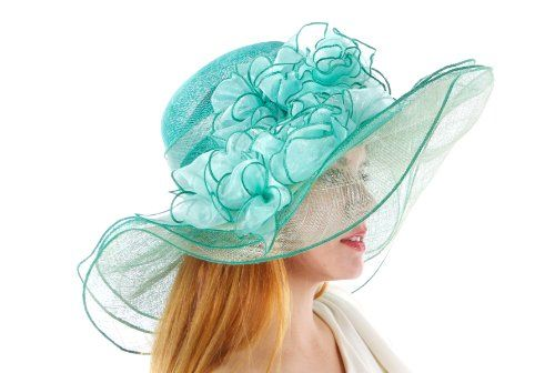 Churchill Downs Diva Sinamay Derby Hat Hat Colors: Green with Mint Green Greatlookz, To SEE or BUY just CLICK on AMAZON right here http://www.amazon.com/dp/B00I8A61ZC/ref=cm_sw_r_pi_dp_fXSCtb1SKYAS44SS