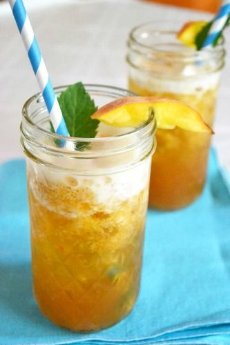 Homemade Ginger Peach Iced Tea