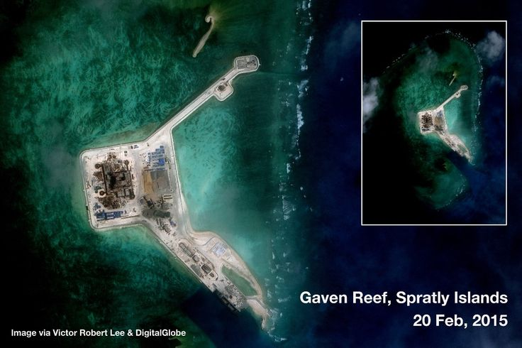 https://medium.com/satellite-image-analysis/china-s-new-military-installations-in-the-spratly-islands-satellite-image-update-1169bacc07f9 Gaven Reef