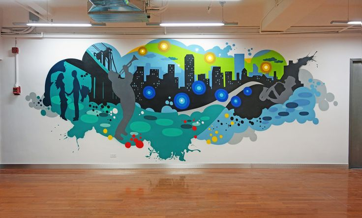 17 best ideas about cool office decor on pinterest for Corporate mural