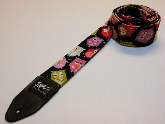 how to make a fabric guitar strap