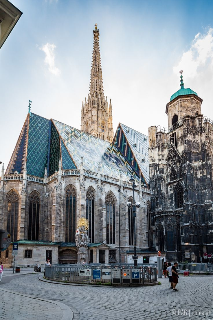 St. Stephen's Cathedral Vienna, two towers different heights. The only church in the world where this is.