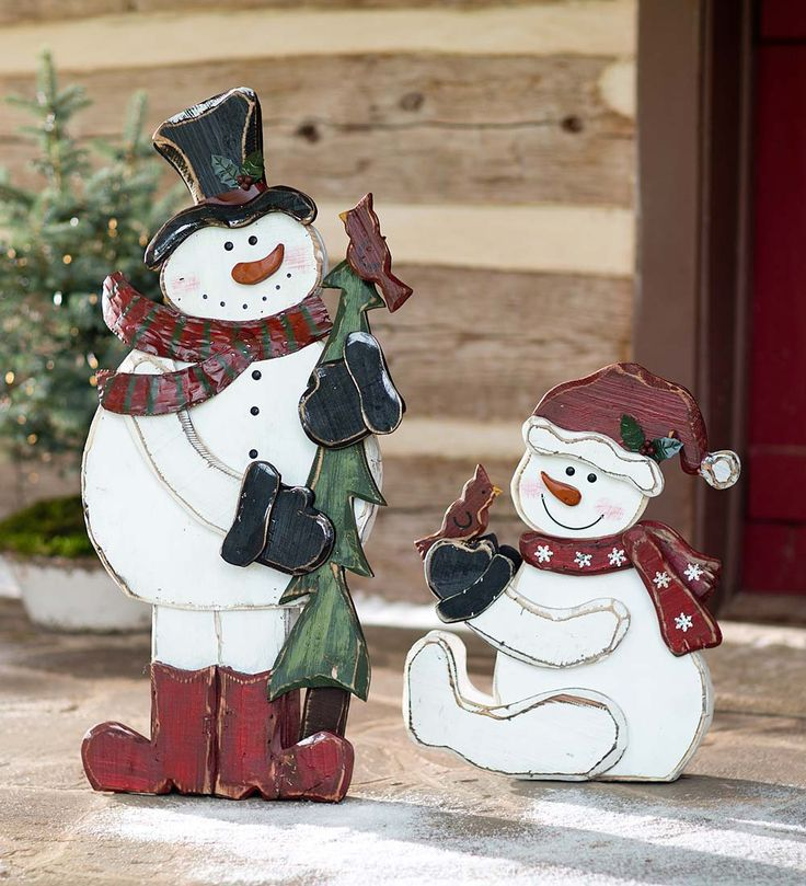 Holiday snowmen will melt your heart complete with carrot noses and
