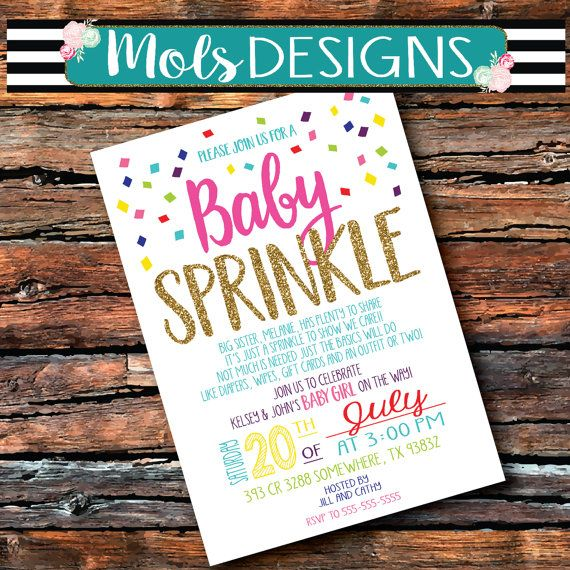 Charming Having A Sprinkle Baby Shower Part - 4: GIRL Version Any Color BABY SPRINKLE Couples Pink By MolsDesigns