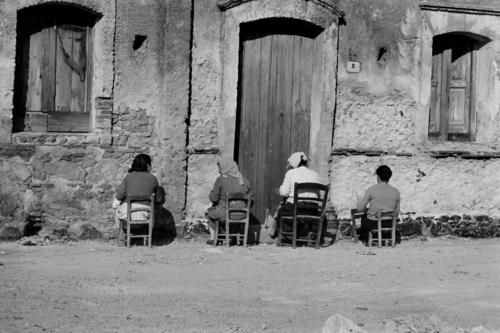 Calabria, Italy [1964] wonder why the ladies always face the walls.