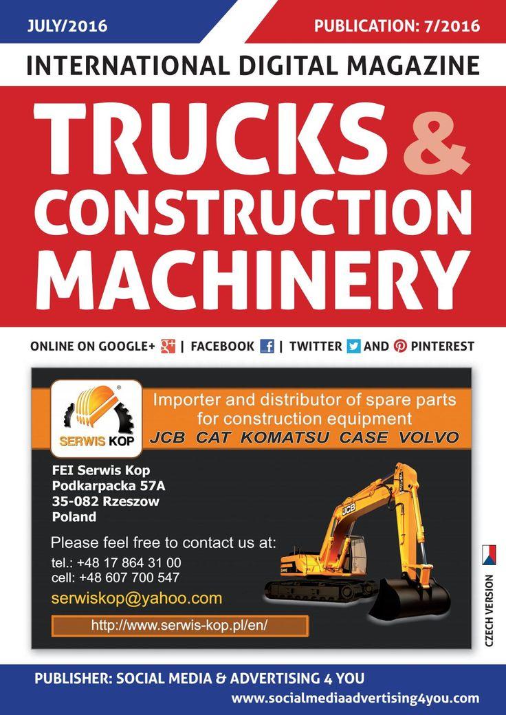 TRUCKS & CONSTRUCTION MACHINERY - July 2016