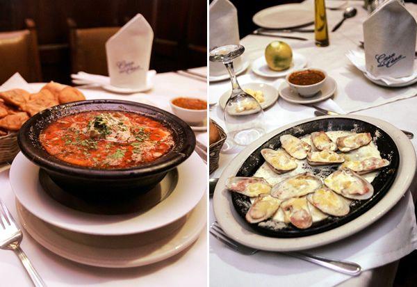 Casa de Cena nació hace 30 años. Es famosa por el caldillo de congrio y las machas a la parmesana.