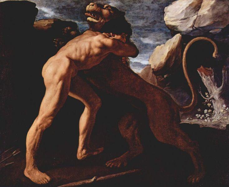 Hercules Figthing with the Nemean Lion - Francisco de Zurbaran (1634)
