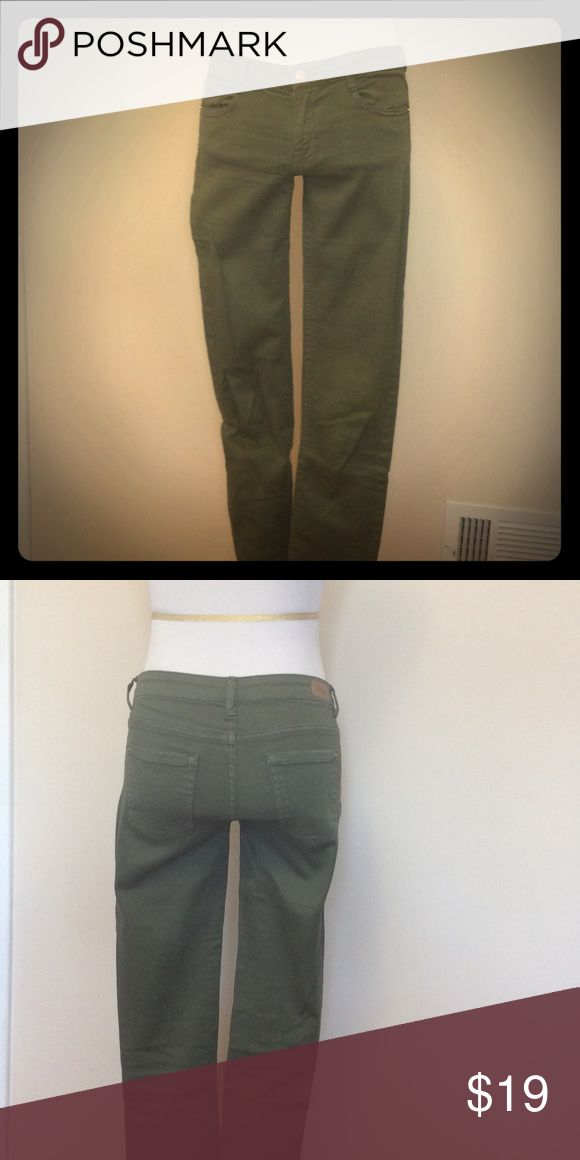 Zara Army green denim Zara Trafaluc Army Green Denim Zara Jeans Skinny